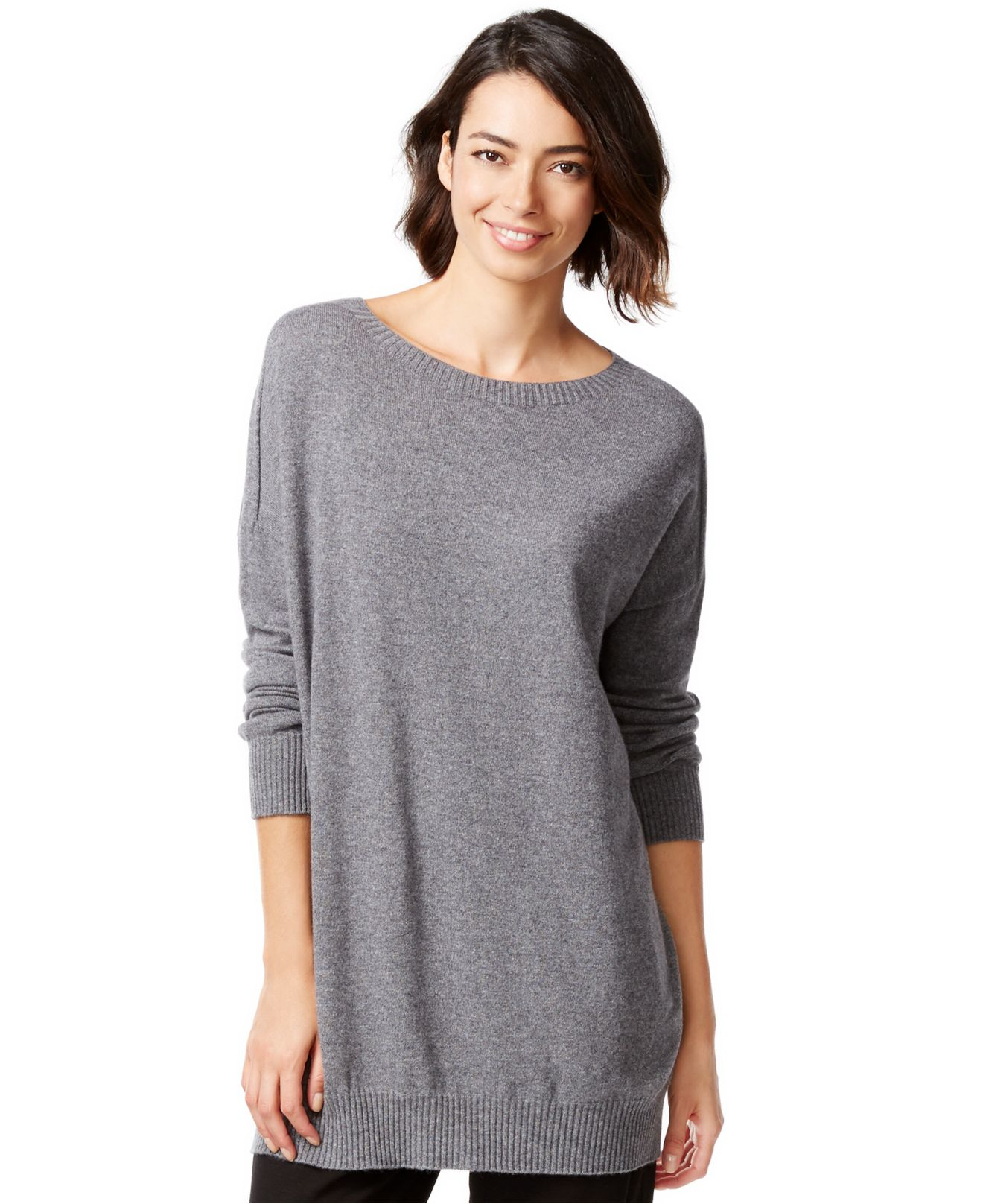 559c1419818b Eileen Fisher Cashmere Relaxed-fit Sweater Tunic in Gray - Lyst
