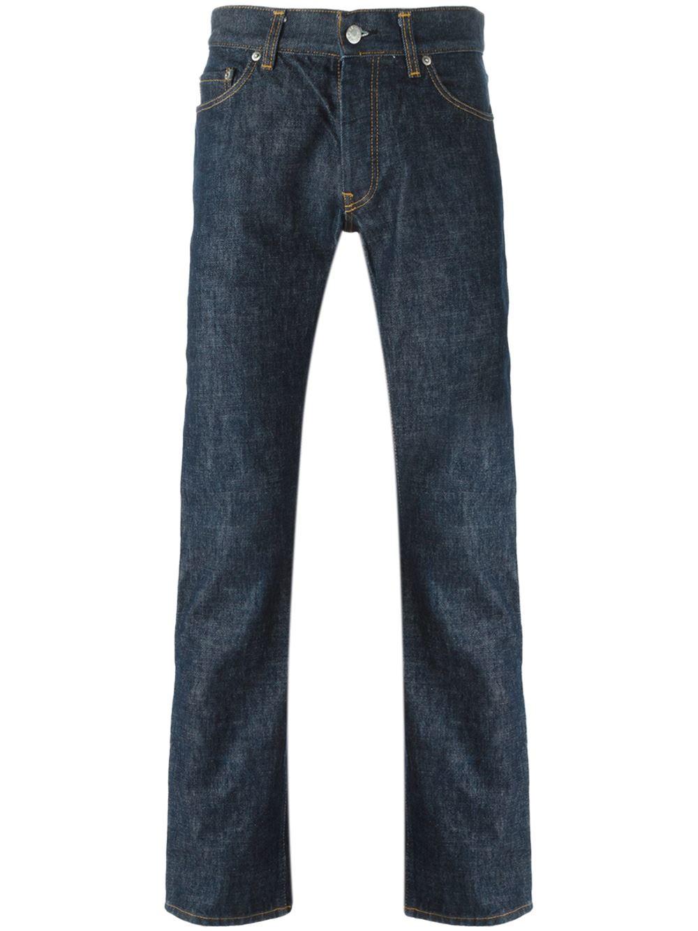 helmut lang slim fit jeans in blue for men lyst. Black Bedroom Furniture Sets. Home Design Ideas