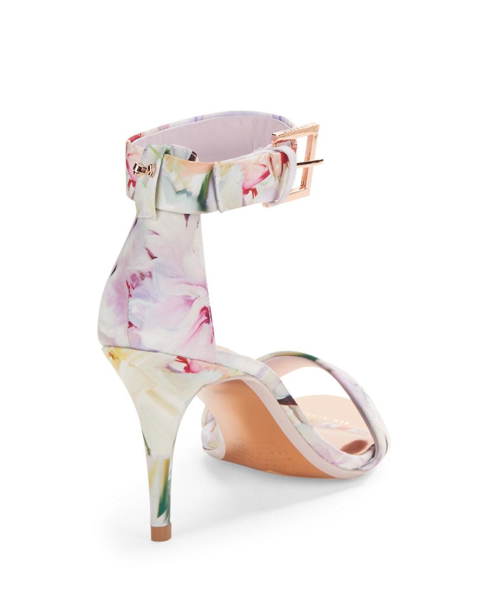 7ba5fd51f Ted Baker Blynne Floral Open-toe Sandals in White - Lyst