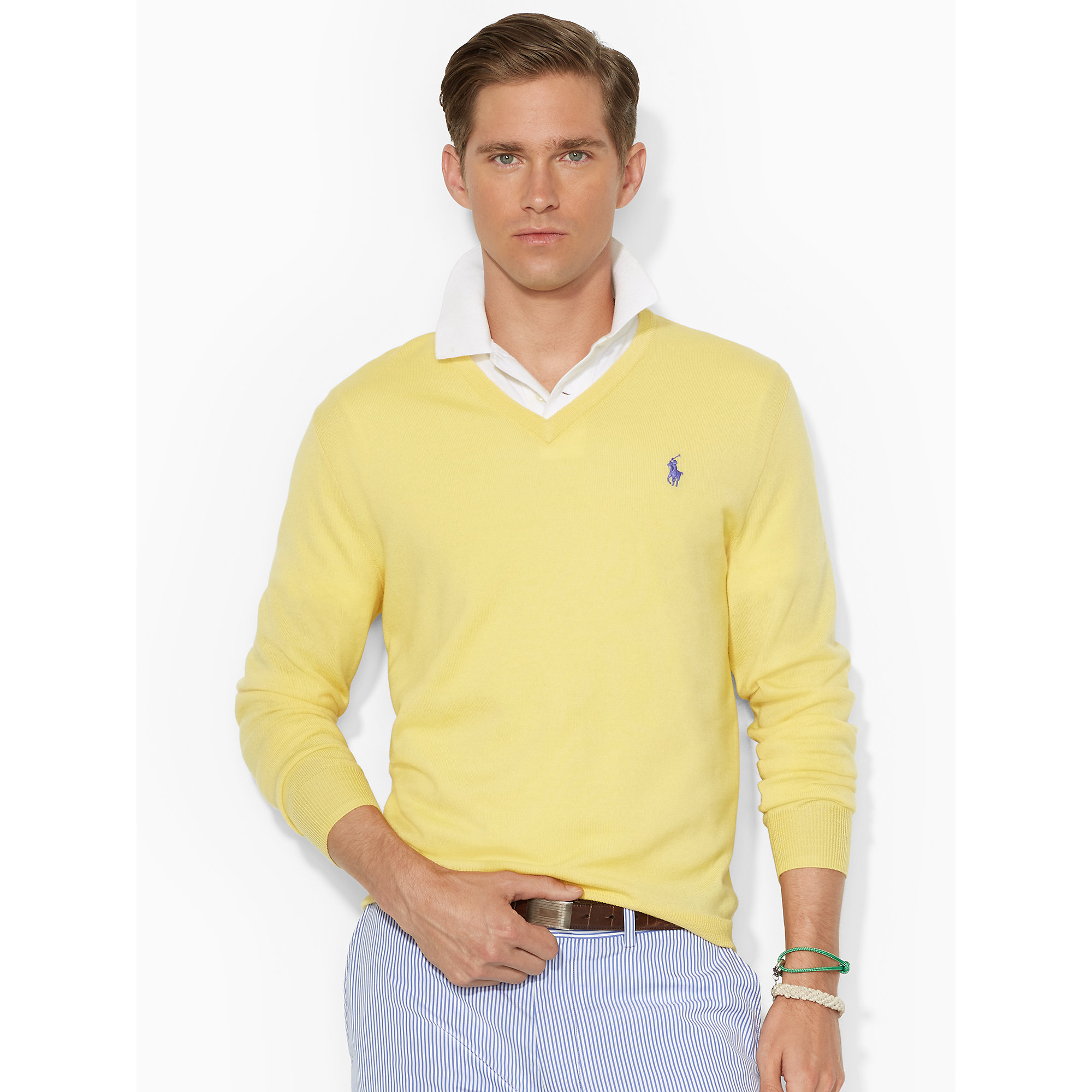 Merino Wool V,Neck Sweater