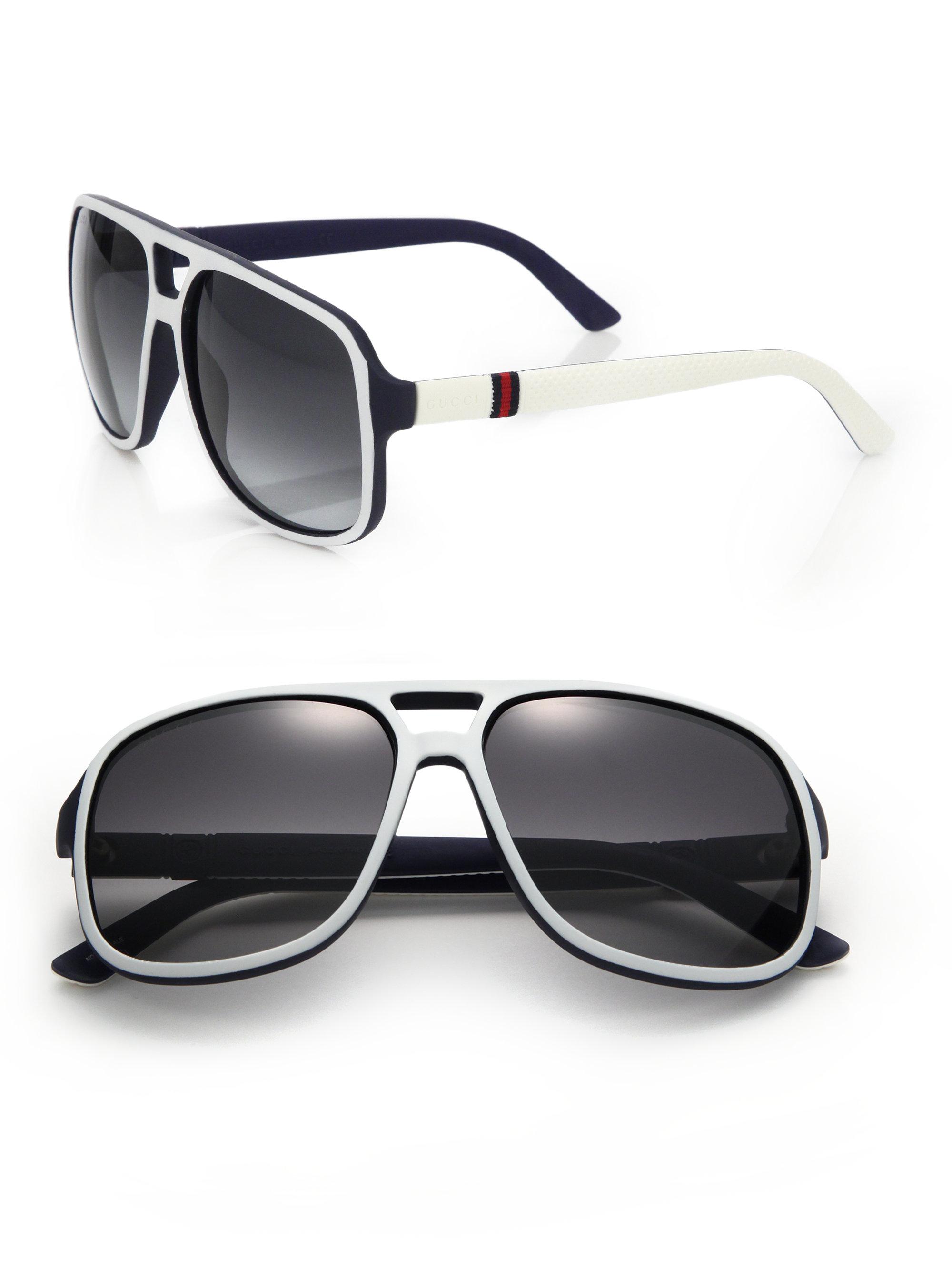 ed7cbcfd62cd Gucci 1115/s 59mm Mirror Aviator Sunglasses in Black for Men - Lyst