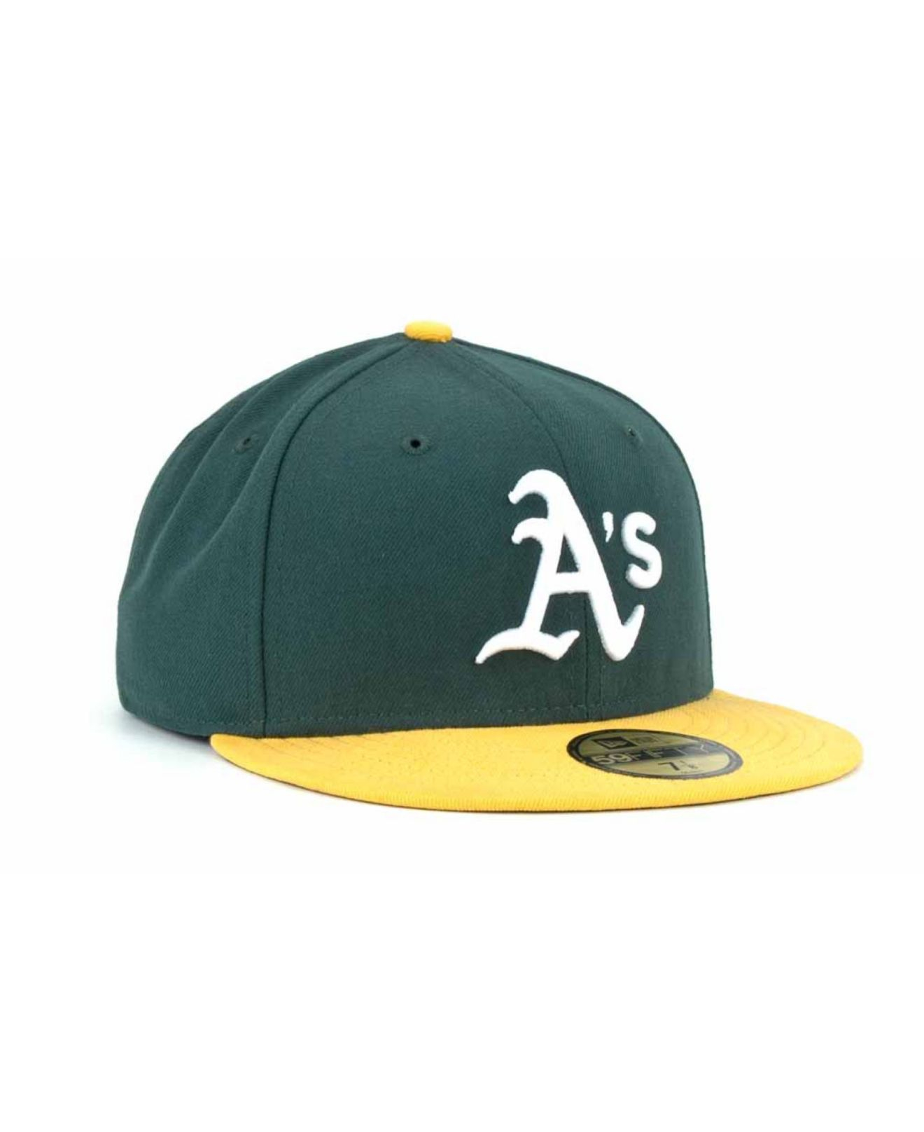 the latest 1dd3b 16565 ... new arrivals lyst ktz oakland athletics ac on field 9 11 patch 59fifty  cap in acb43