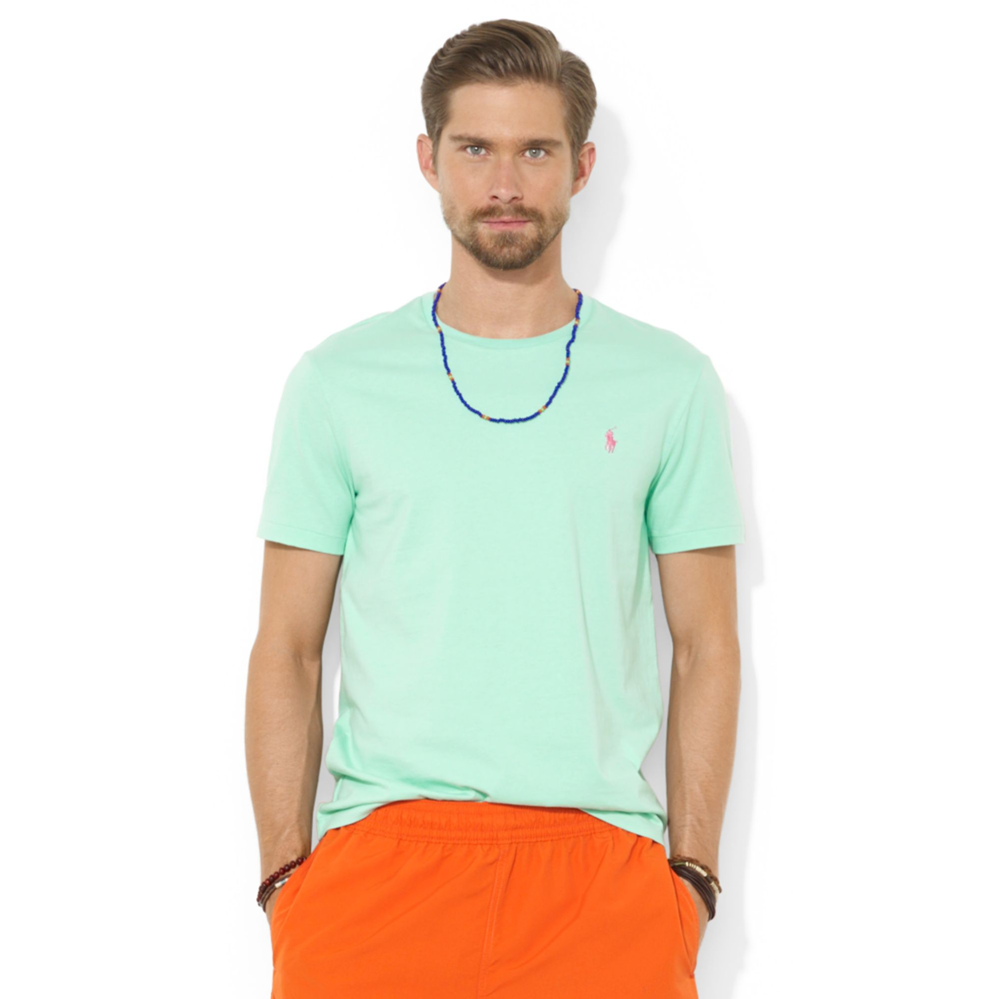 Lyst Polo Ralph Lauren Polo Custom Fit Cotton Jersey T Shirt In