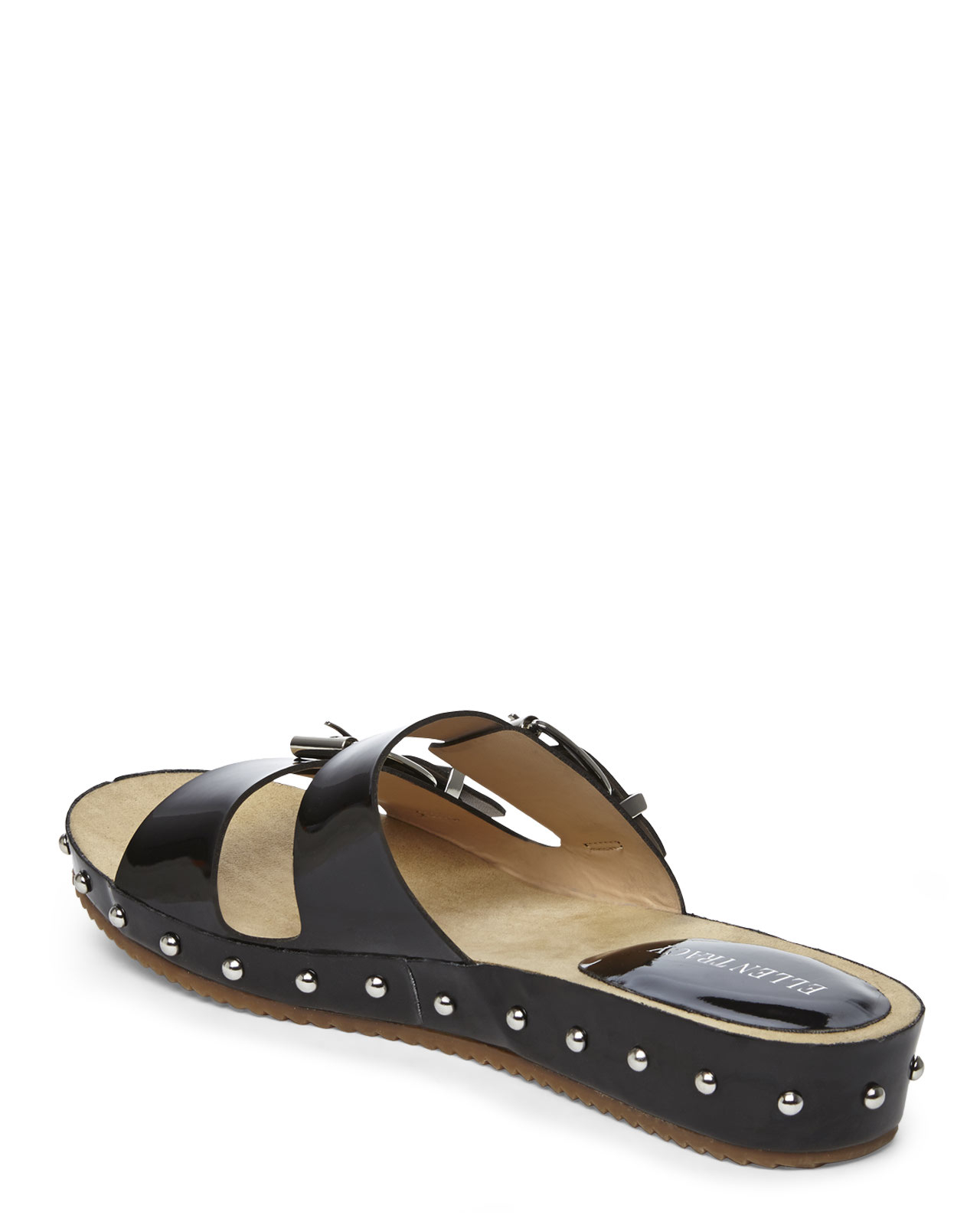 Ellen Tracy Black Paxton Studded Sandals In Black Lyst