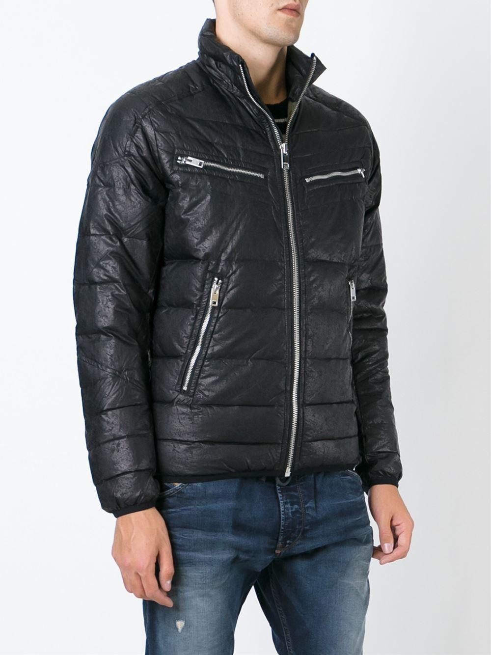 Diesel W Izumo Jacket In Black For Men Lyst