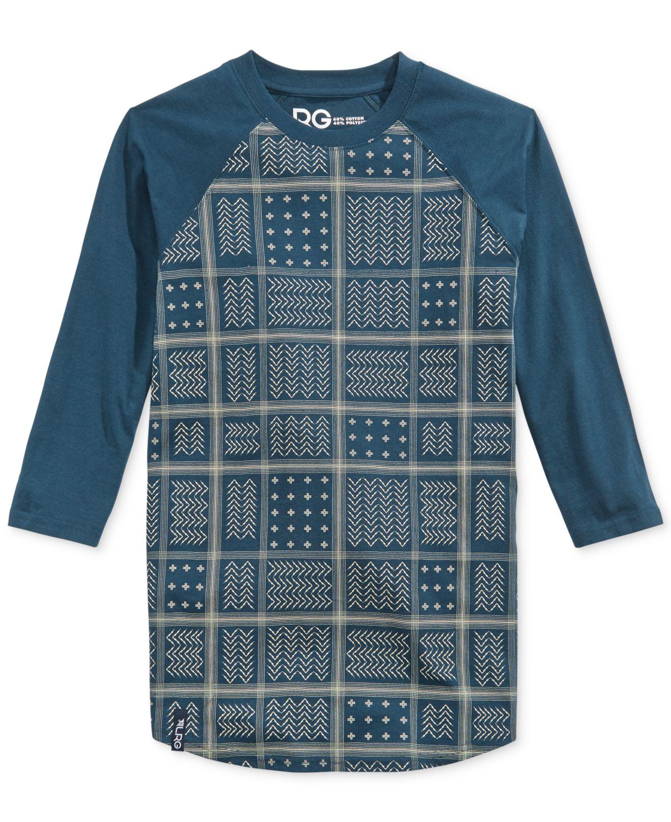 lrg bandana raglan t shirt in blue for men lyst. Black Bedroom Furniture Sets. Home Design Ideas