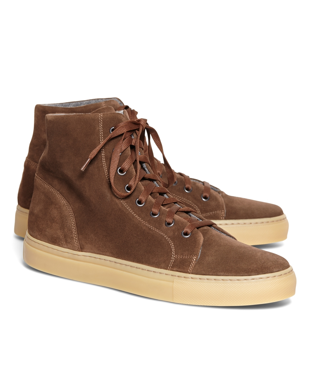 great quality outlet store sale huge selection of Brooks Brothers High Top Suede Sneaker in Brown for Men - Lyst