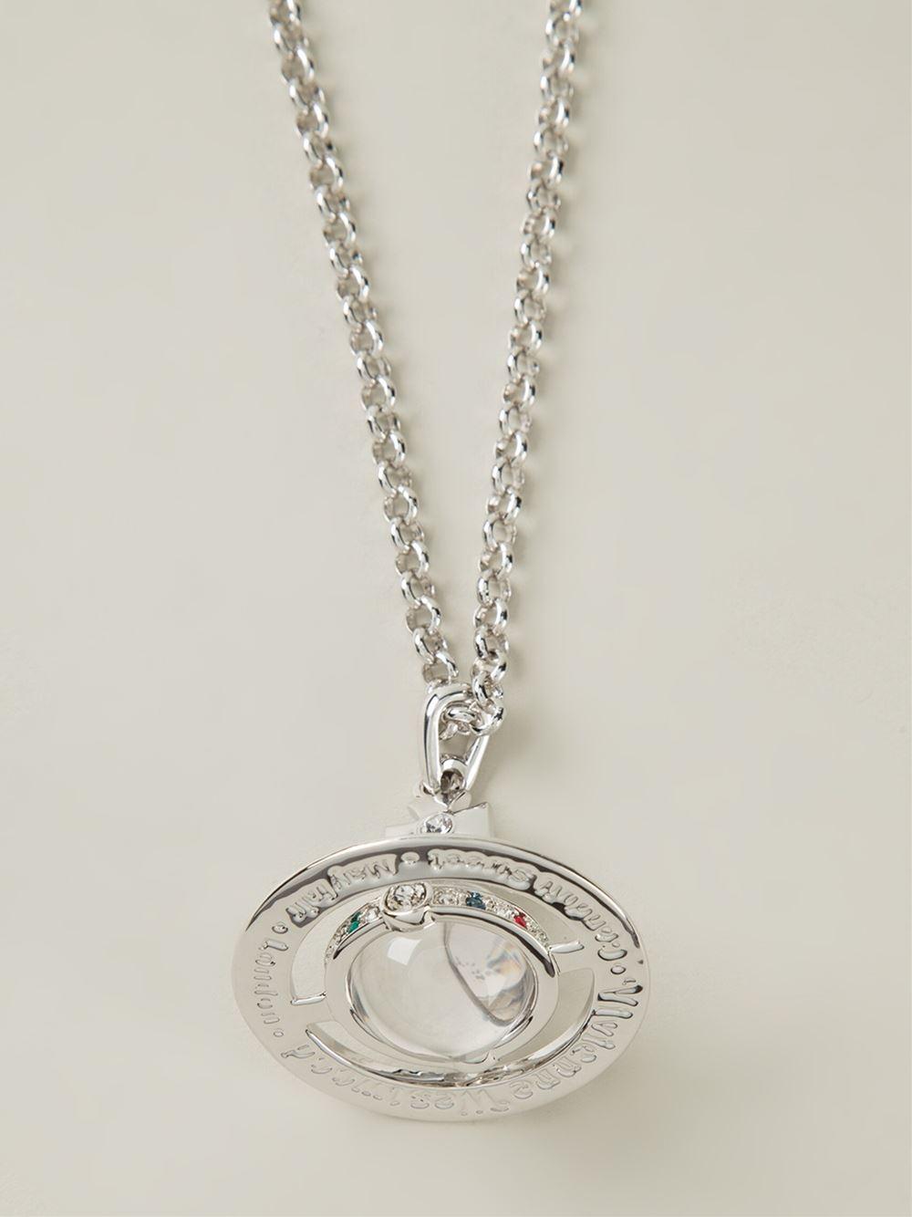Lyst vivienne westwood orb pendant necklace in metallic for men gallery aloadofball Gallery