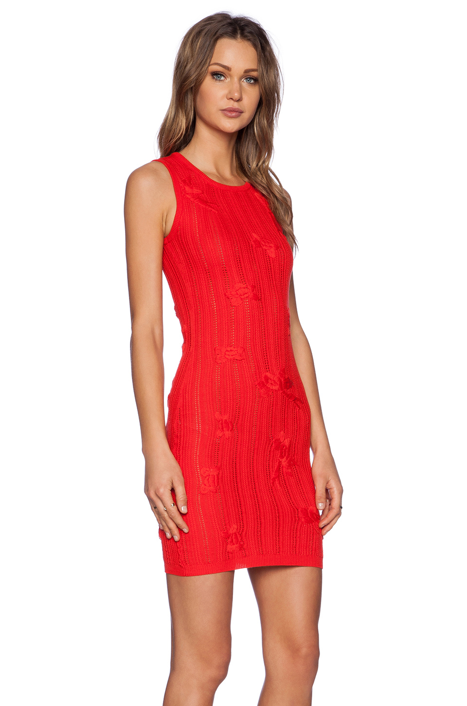 Not Clothing But Makeup Is Just As Important To Finish A: For Love & Lemons Forget Me Not Dress In Red