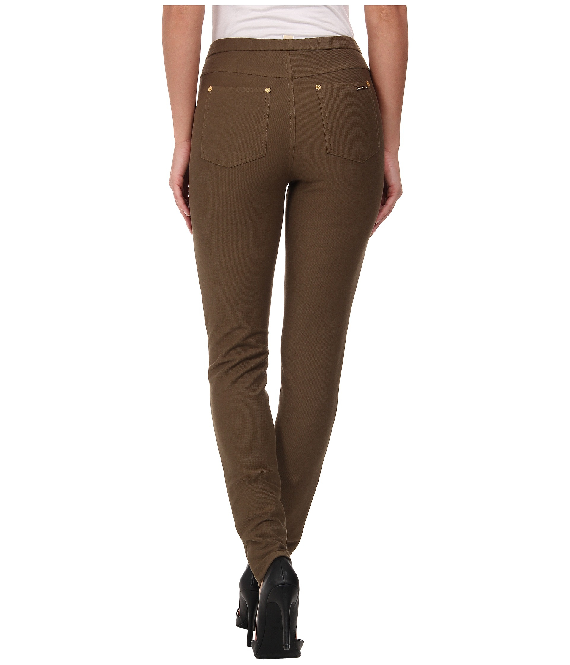 26f4fe9e8c61 MICHAEL Michael Kors Solid Pull On Leggings in Brown - Lyst