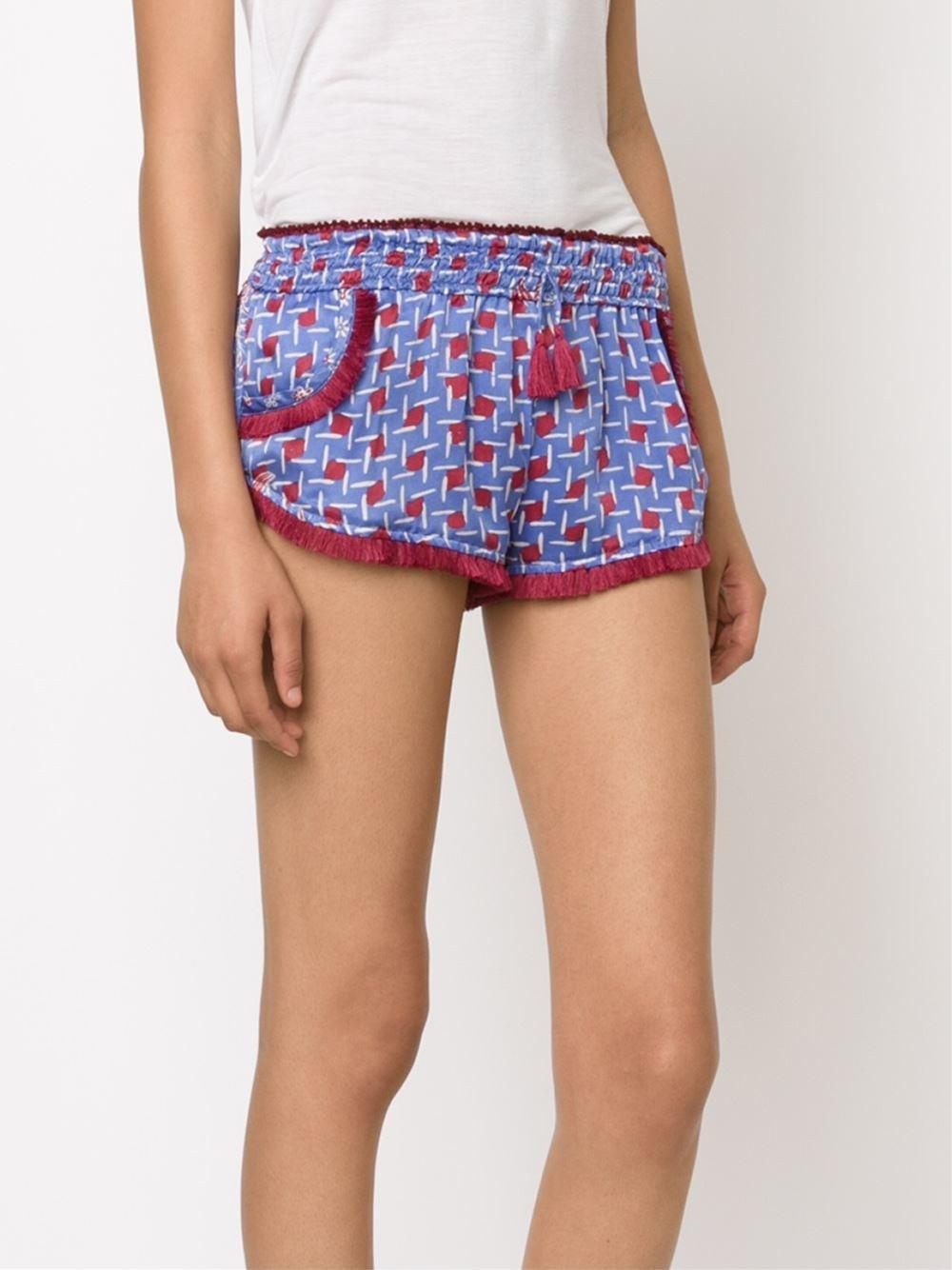 Poupette Lulu Boxer Shorts In Blue Lyst