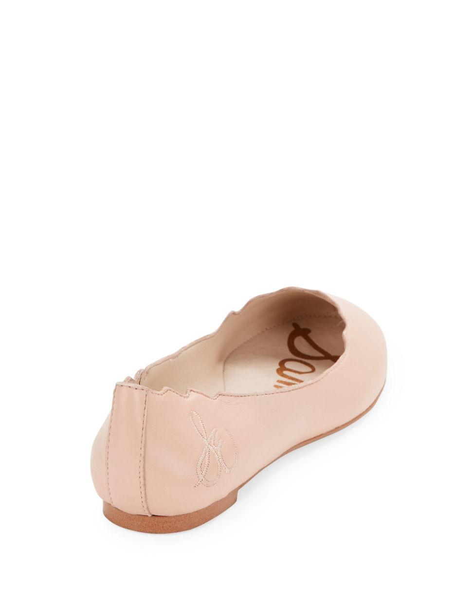 78782574707f52 Sam Edelman Augusta Leather Ballet Flats in Pink - Lyst