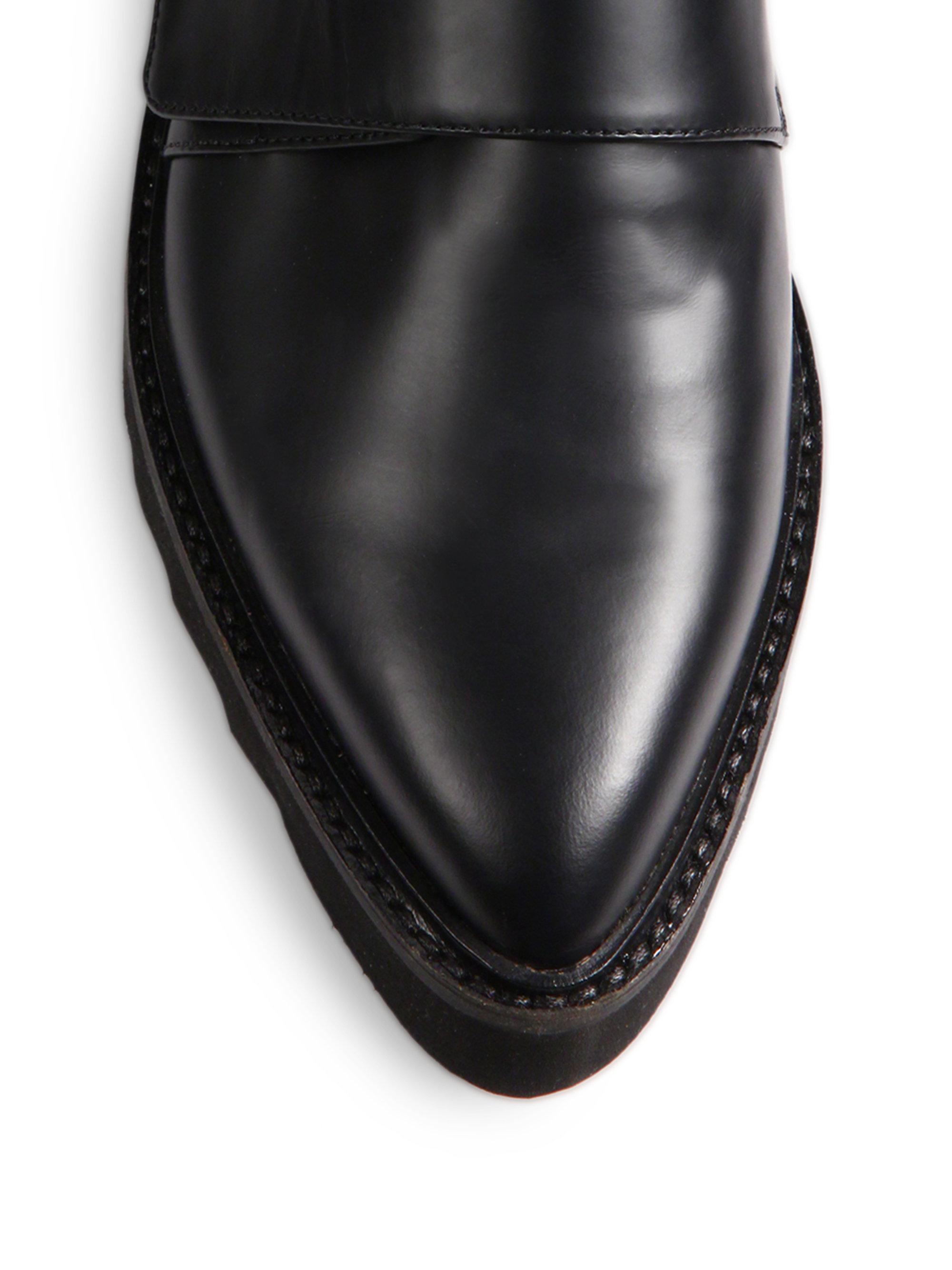 Vince Ames Leather Platform Oxfords In Black Lyst