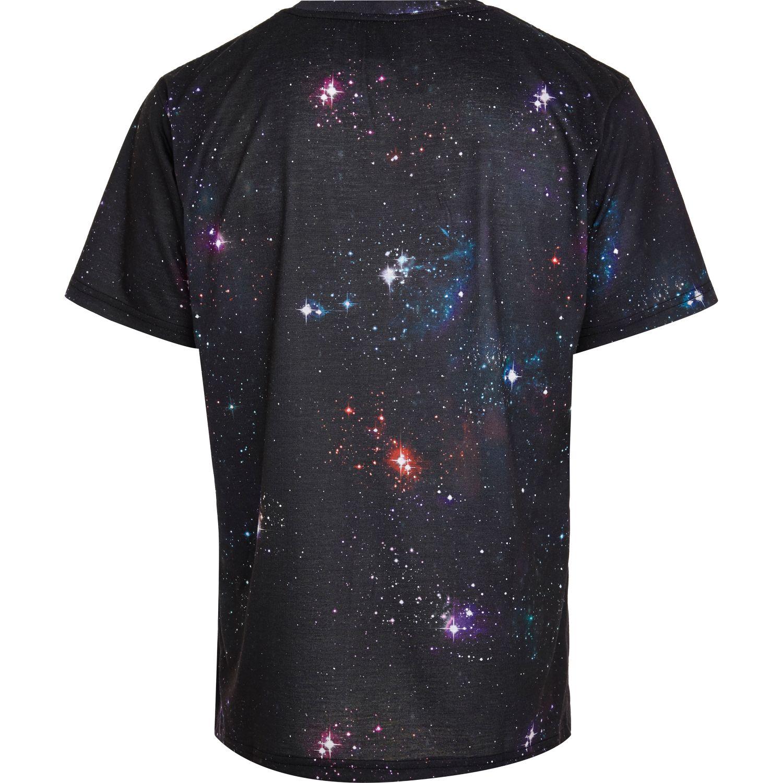 7a070295efe River island Black New Love Club Galaxy Print Tshirt in .
