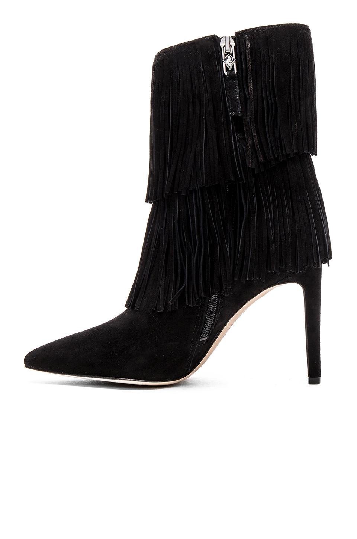 sam edelman belinda suede boots in black lyst