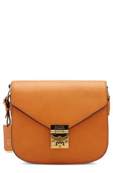outlet online 2018 sneakers special for shoe MCM 'small Patricia' Leather Crossbody Bag in Cognac (Brown ...