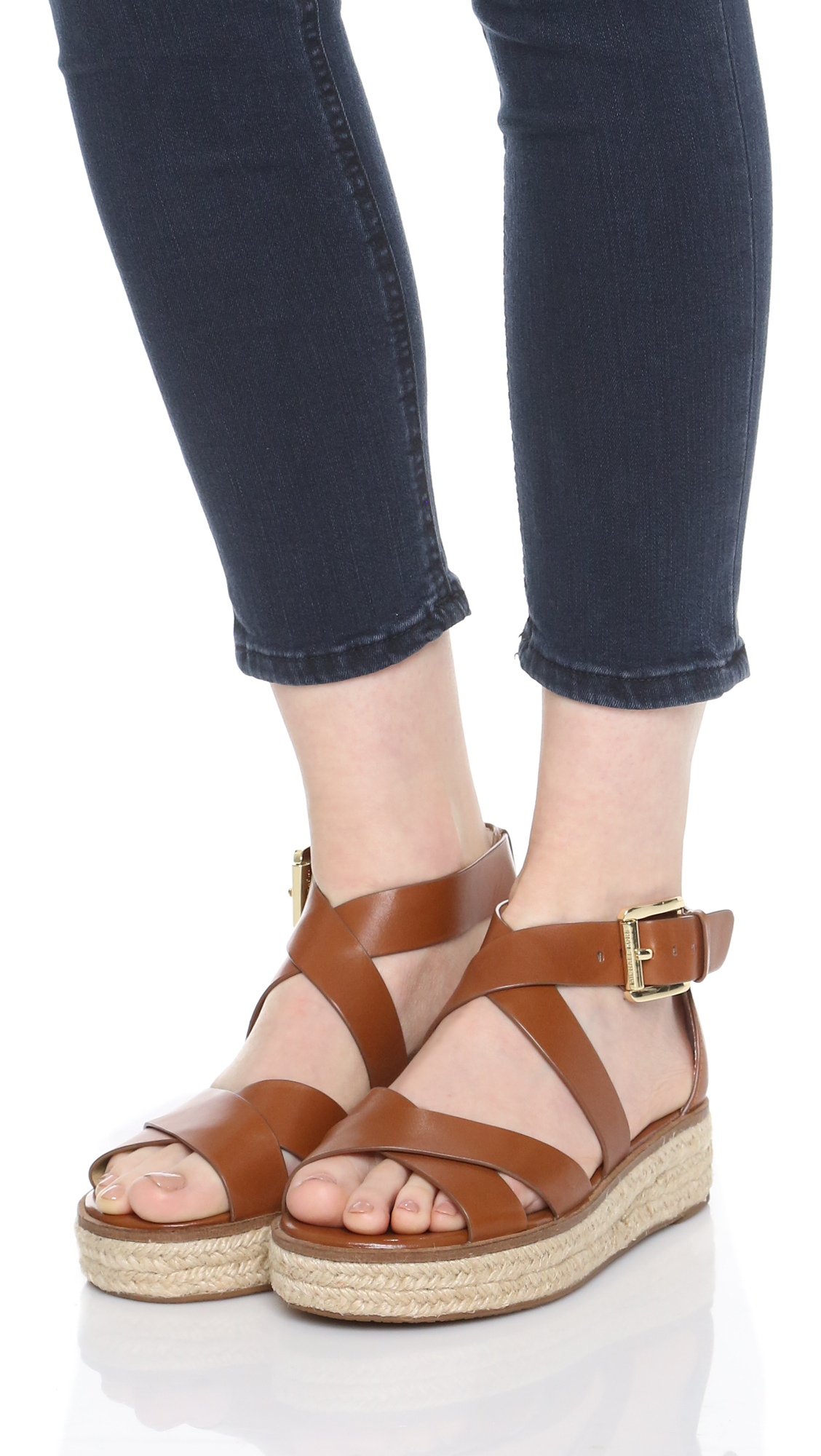 72d6aedf69f MICHAEL Michael Kors Brown Darby Sandals