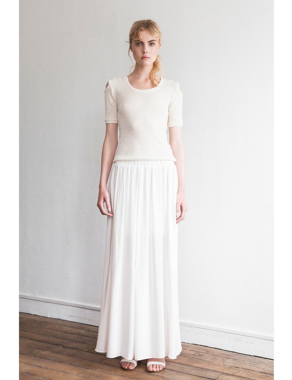 Etienne deroeux White Node Maxi Skirt in White | Lyst