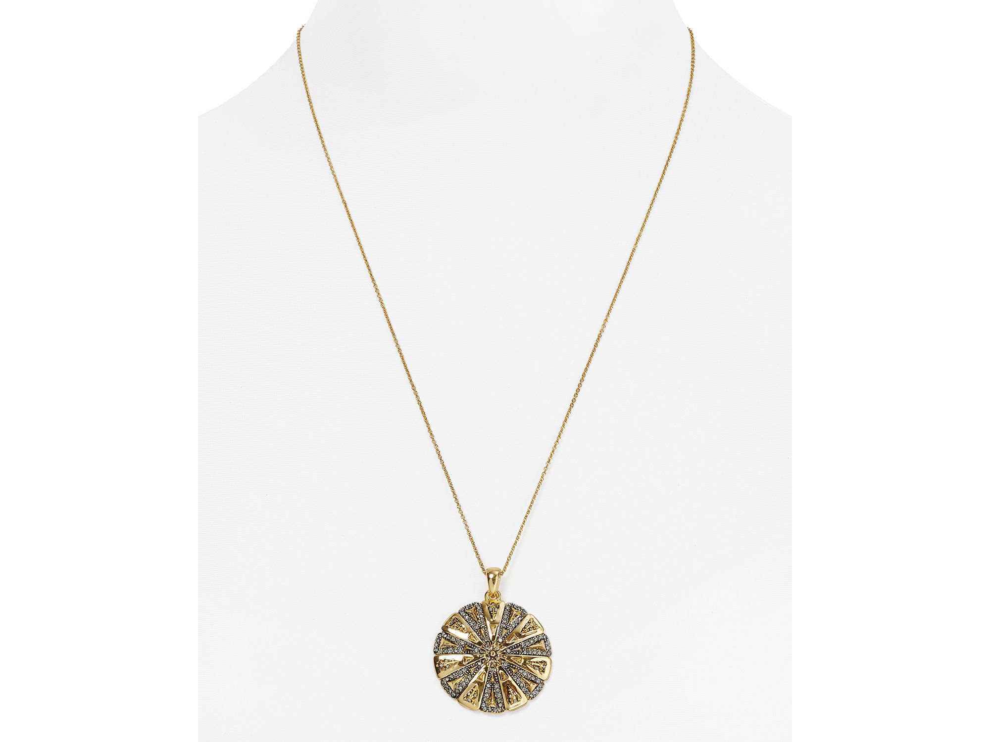 Lyst house of harlow 1960 ornamental medallion pendant necklace gallery mozeypictures Image collections