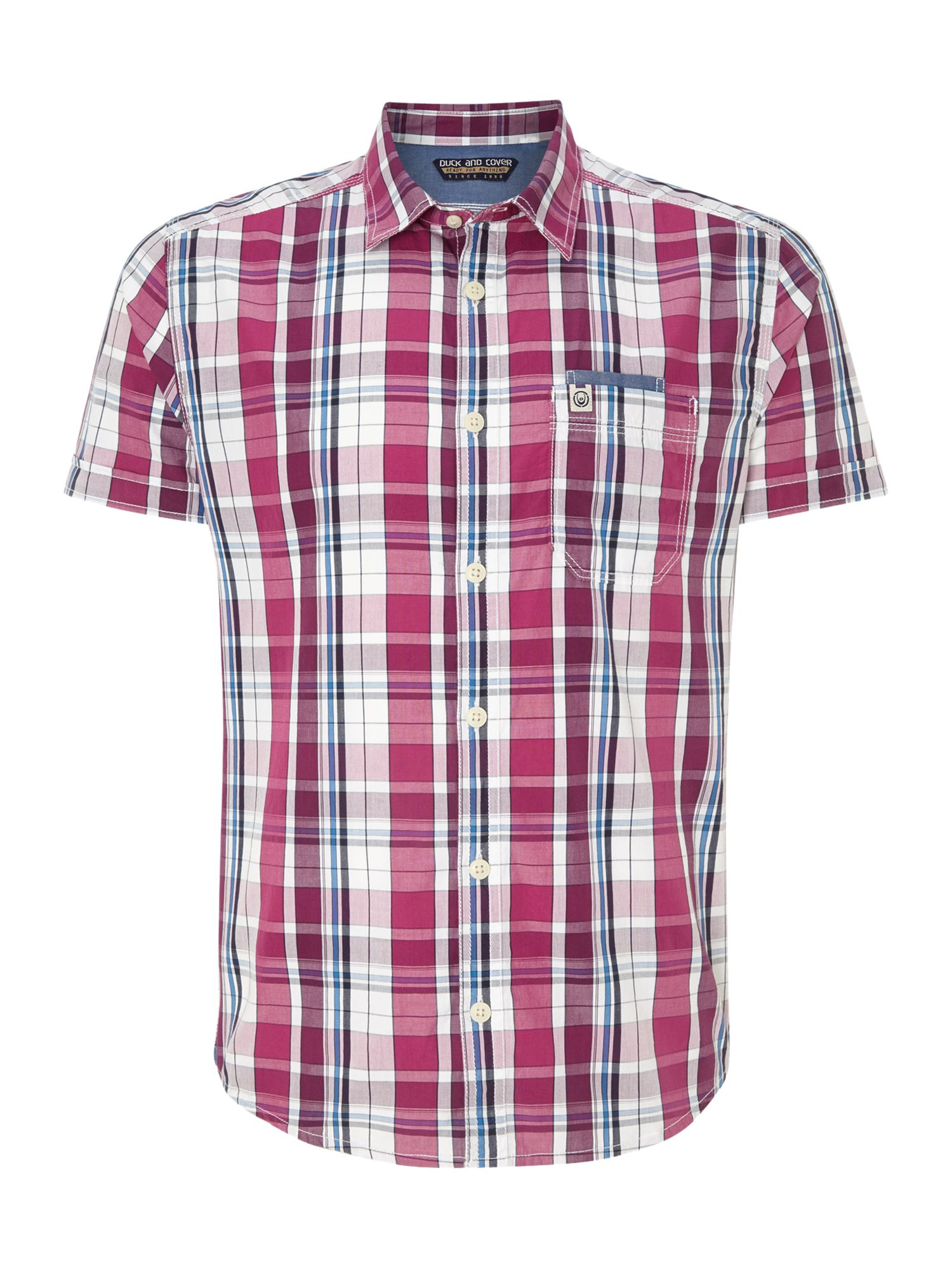 Duck and cover Axel Short Sleeve Casual Shirt in Pink for Men | Lyst