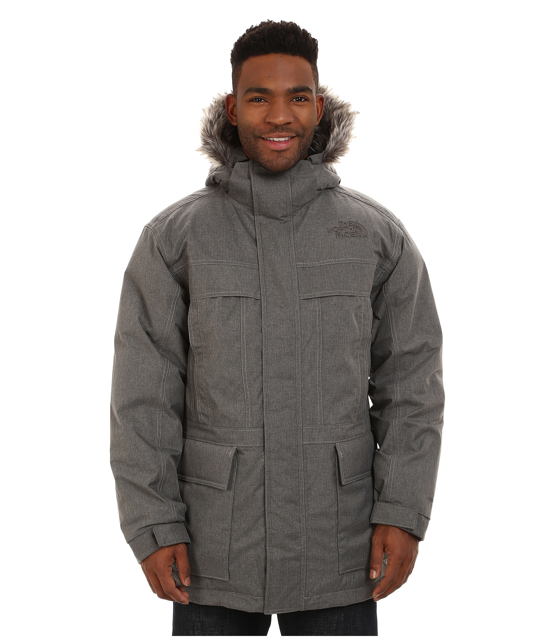 lyst the north face mcmurdo parka ii in gray for men. Black Bedroom Furniture Sets. Home Design Ideas
