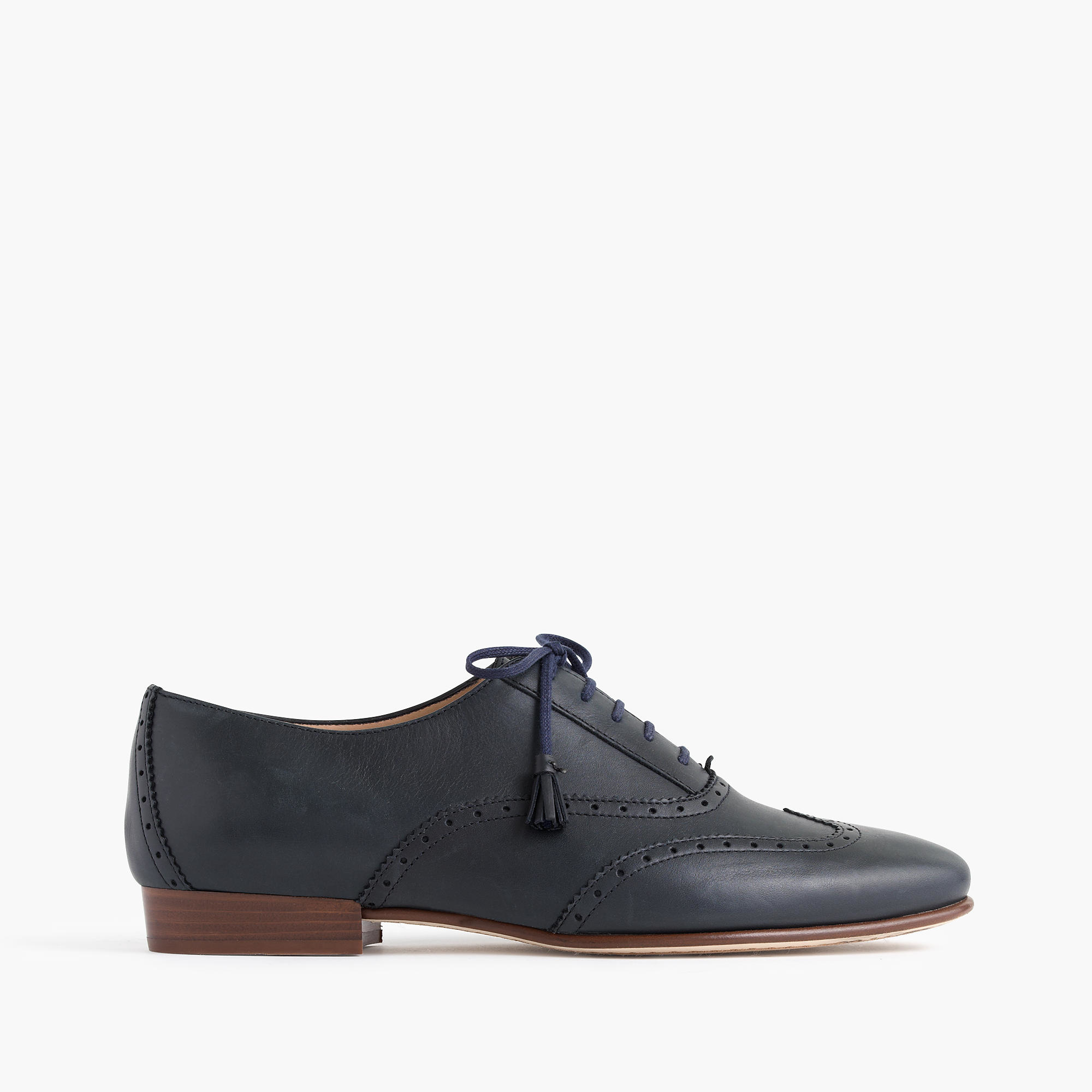 J.crew Tasseled Oxford Shoes In Blue | Lyst