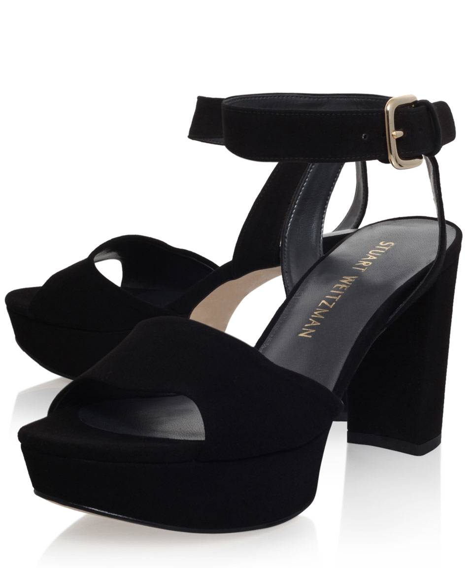 a644449e453 Stuart Weitzman  real Deal  Sandals in Black - Lyst