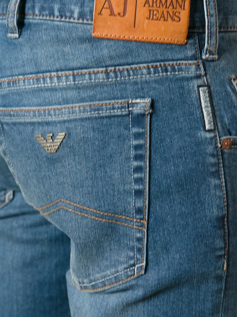 Lyst Armani Jeans Denim Shorts In Blue For Men