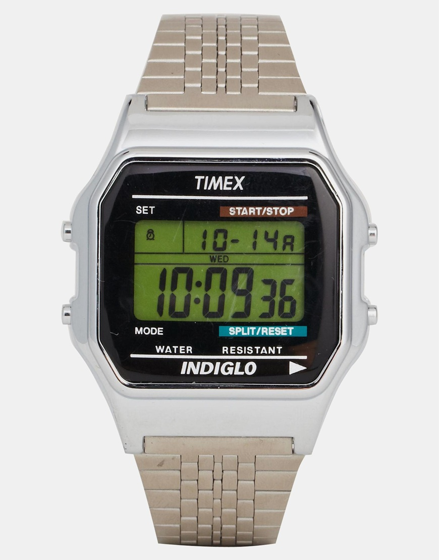 Timex Exclusive For Asos Vintage Style Digital Watch in ...