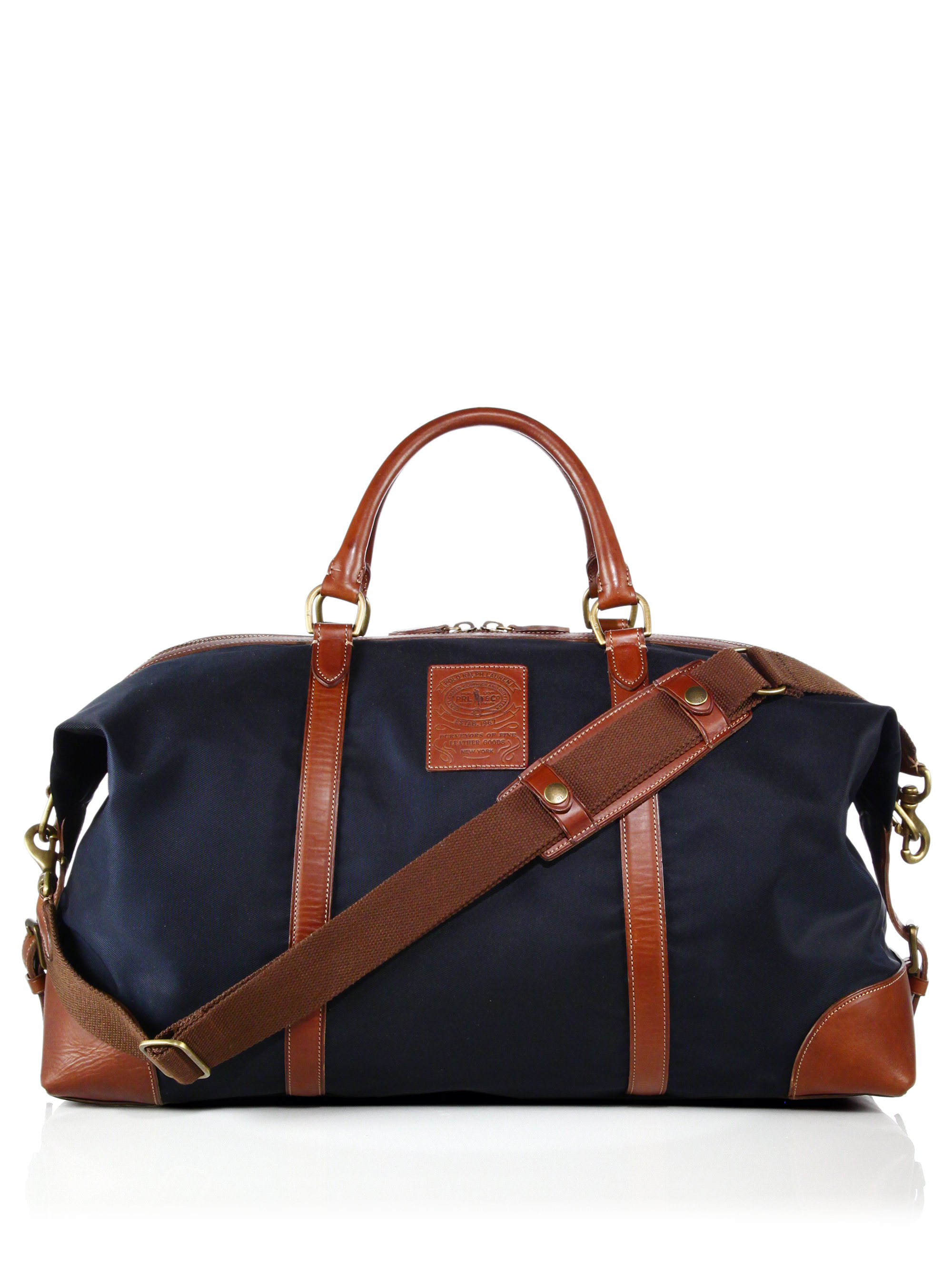 Polo ralph lauren Large Nylon Duffel Bag in Blue for Men | Lyst