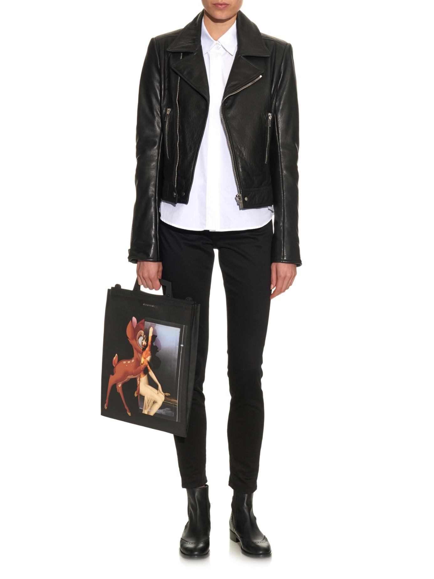 b3fee563e75 Givenchy Rave Bambi Antigona Print Coated-canvas Tote in Black - Lyst