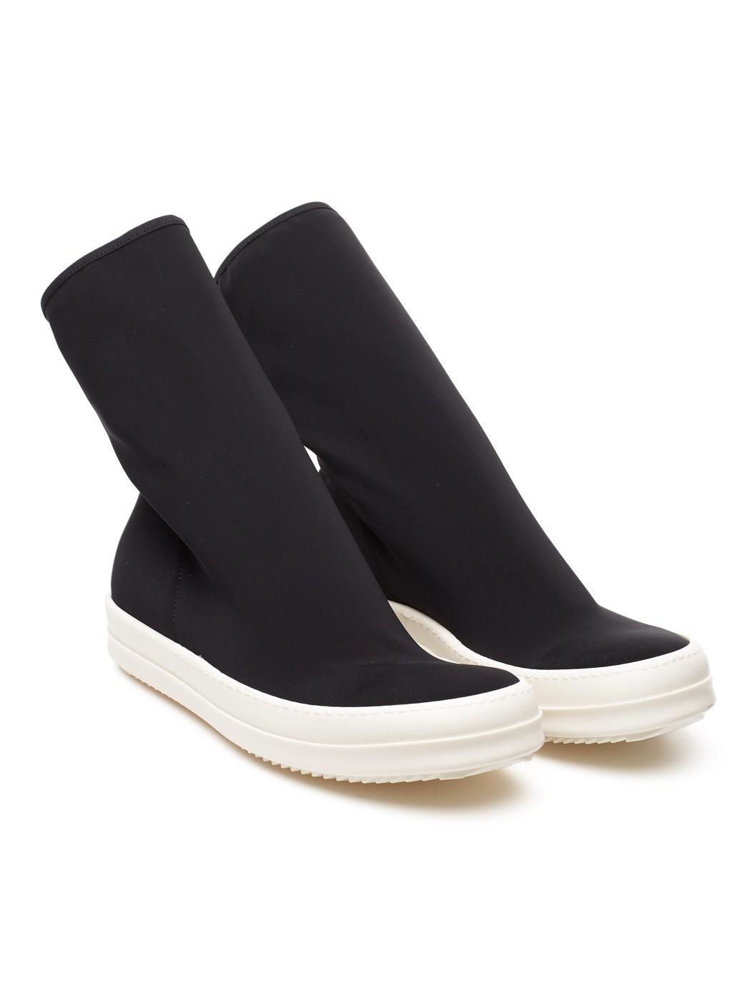 drkshdw by rick owens scuba sock sneakers in black for men lyst. Black Bedroom Furniture Sets. Home Design Ideas