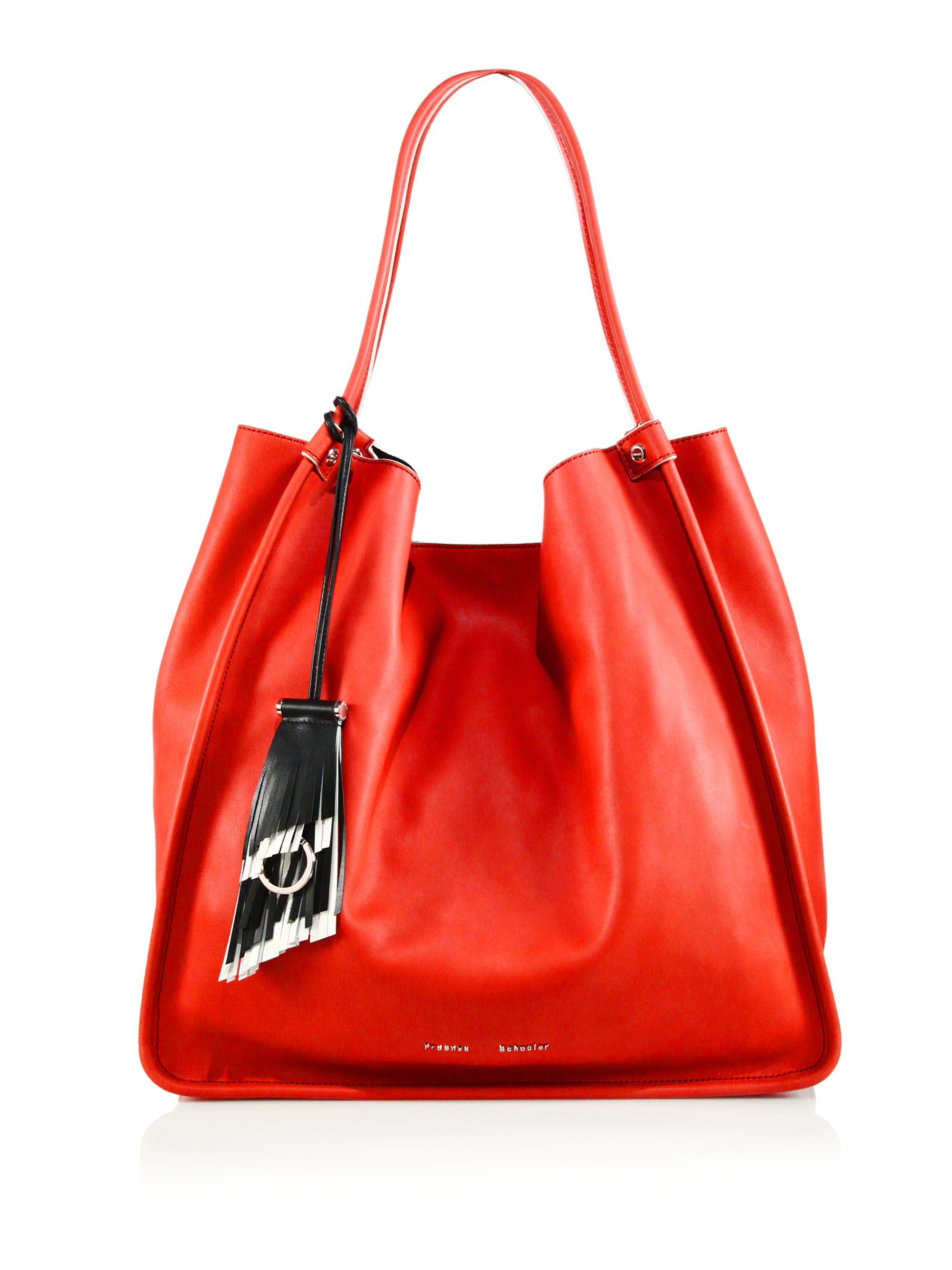 Proenza schouler Large Soft Calf Leather Tote in Red | Lyst