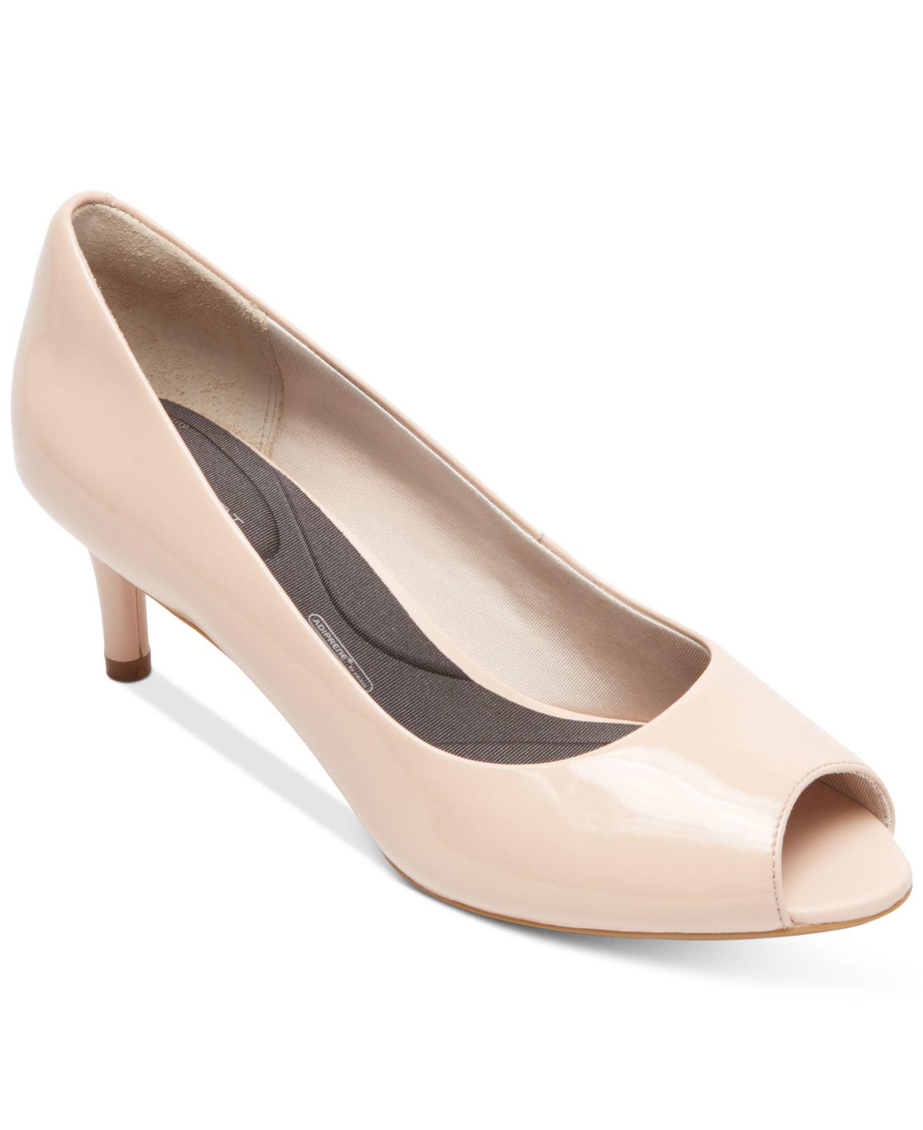 Peep Toe Kitten Heel Shoes