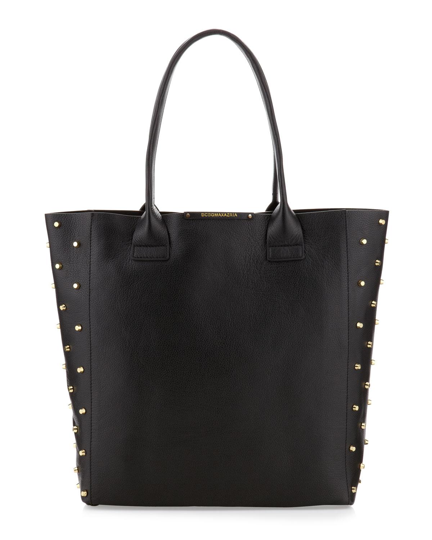 Bcbg Sienna Day Tote Bag Neon Yellow Sarinas Rewards. Gallery. Lyst  Bcbgmaxazria Raina Studded Side Leather Tote Bag Black In 130b1f742805b