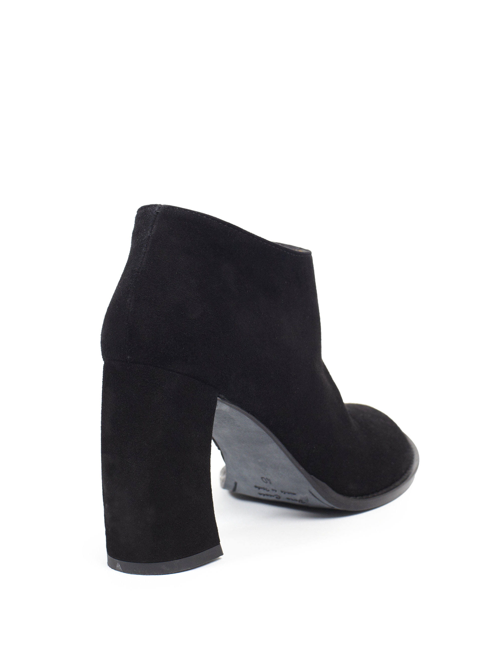17d95df8e4c6 Lyst - Ann Demeulemeester Suede Banana-Heel Ankle Boots in Black