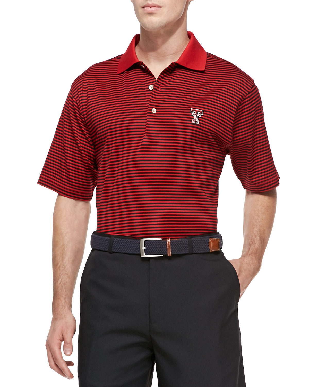 Peter millar texas tech gameday college shirt polo in red for Peter millar polo shirts