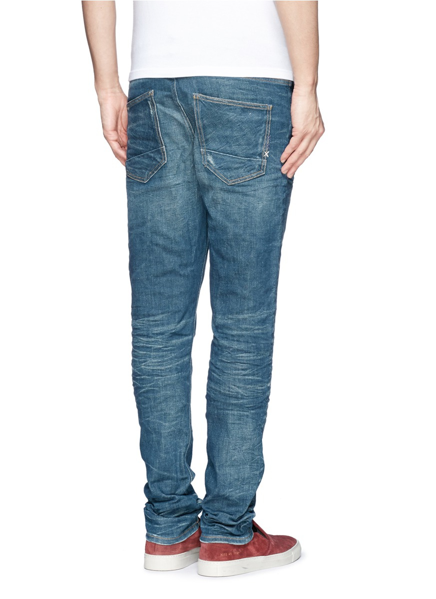 scotch soda 39 skim 39 skinny jeans in blue for men lyst. Black Bedroom Furniture Sets. Home Design Ideas