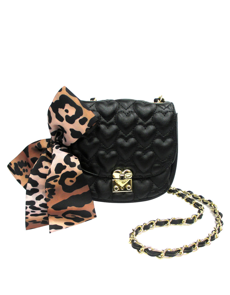 Lyst Betsey Johnson Be Mine Quilted Shoulder Bag In Black