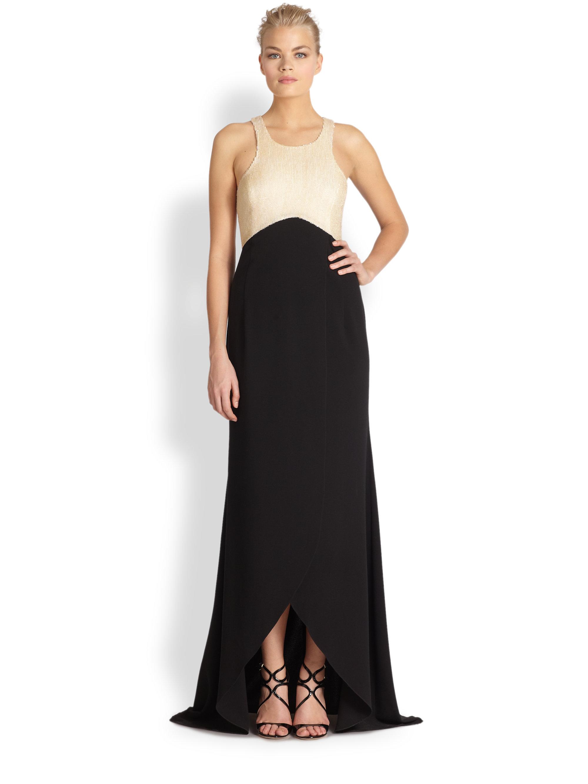 Lyst - Sachin & Babi Noir Serena Tulip Gown in Black
