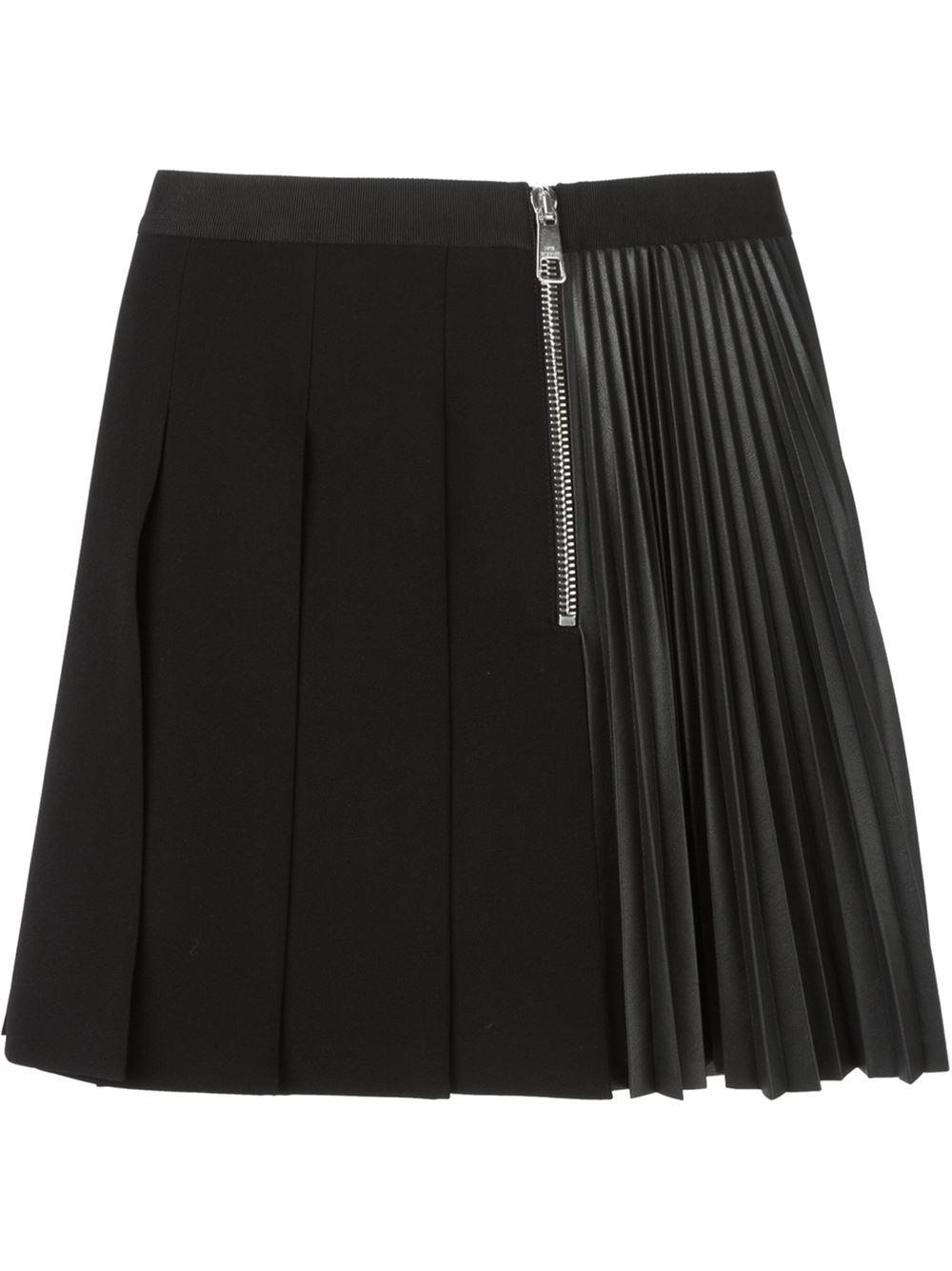 Pleated Black Mini Skirt 21