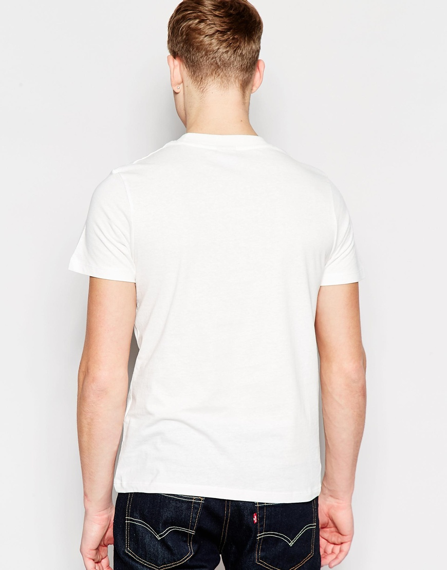 jack jones t shirt with bound for glory print in white. Black Bedroom Furniture Sets. Home Design Ideas