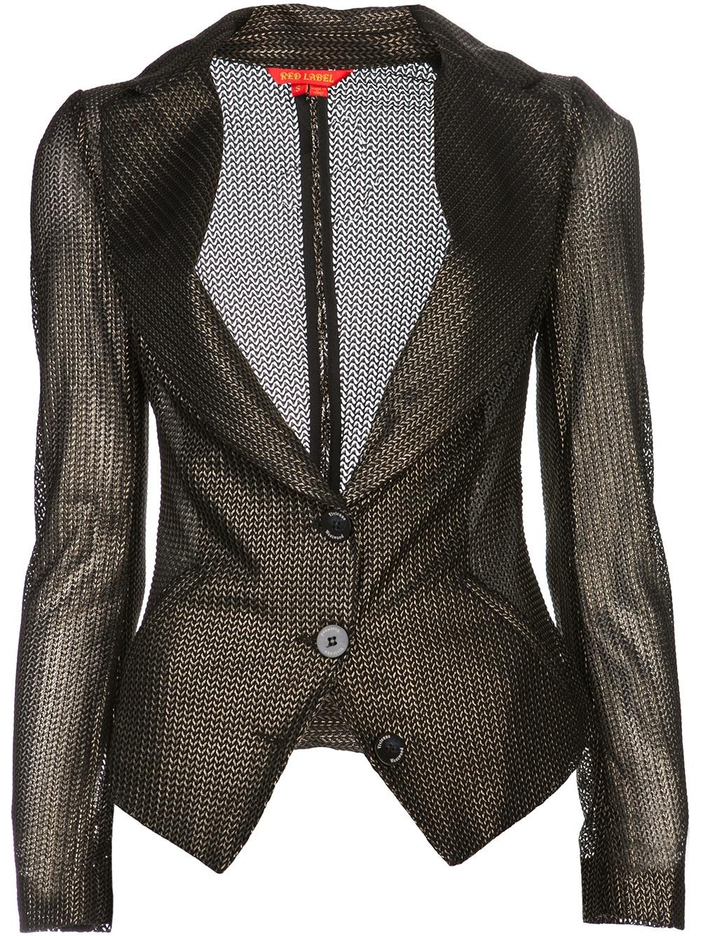 Lyst Vivienne Westwood Red Label Chainmail Jacket In Brown