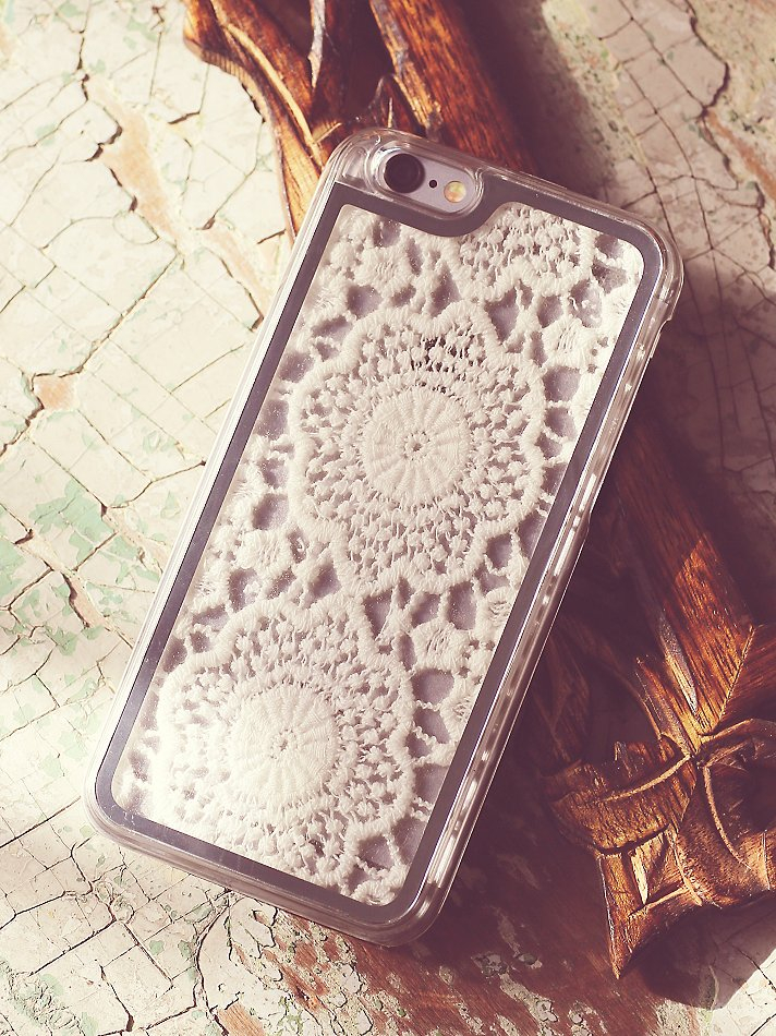 free people iphone case free womens crochet iphone in white lyst 5941