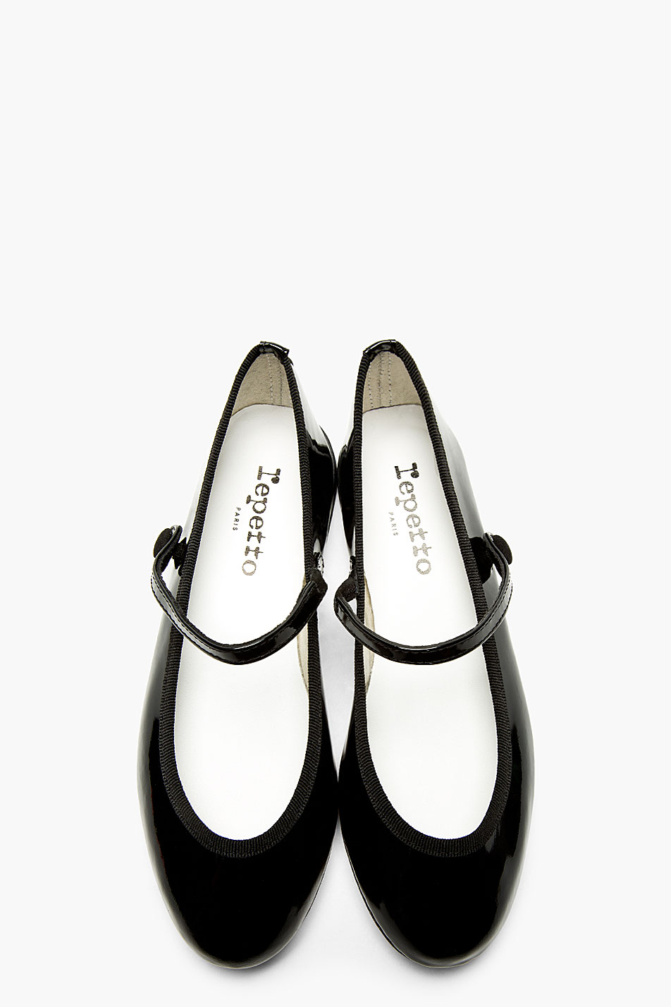 Black Patent Mary Jane Shoes Leather