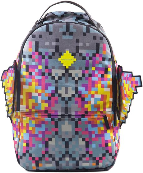 Sprayground The Pixel Wings Backpack In Multicolor For Men