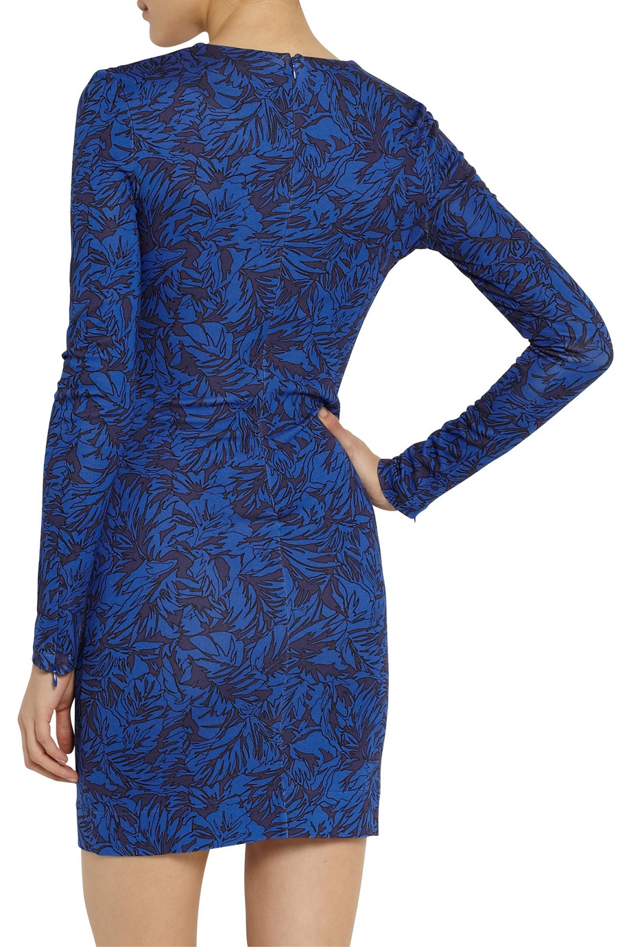 Matthew Williamson Printed Stretch-Jersey Mini Dress in Bright Blue (Blue)