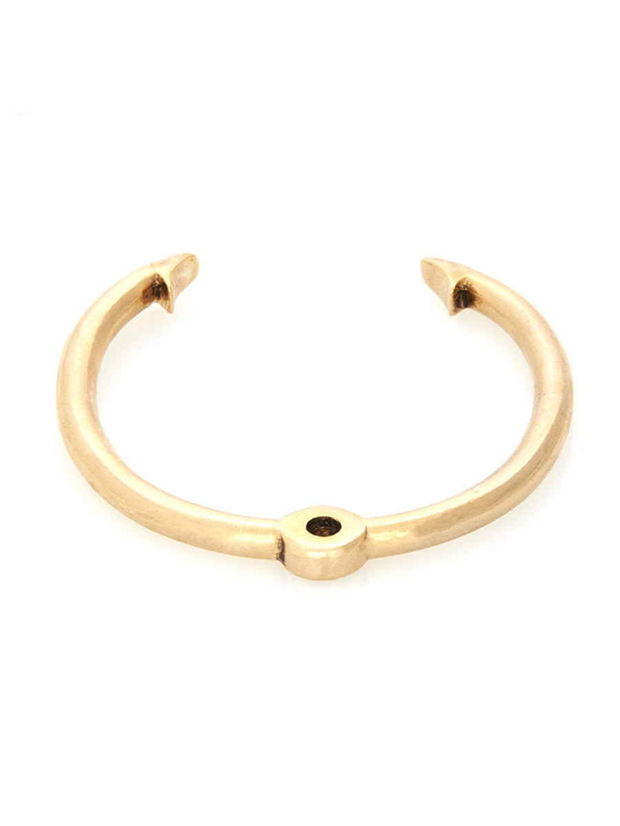 Rose pierre top water fish hook cuff in gold lyst for Best fishing hooks