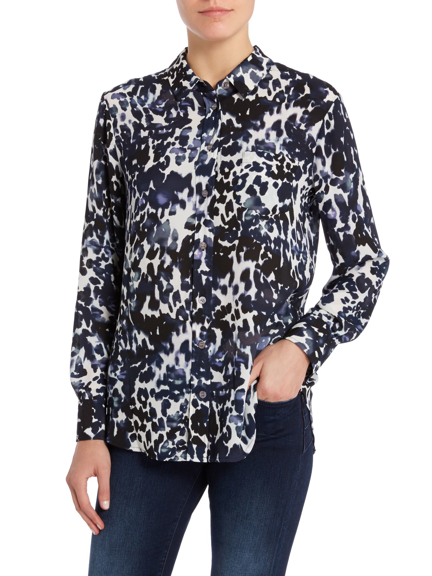 Vince Camuto Bird Print Blouse 110