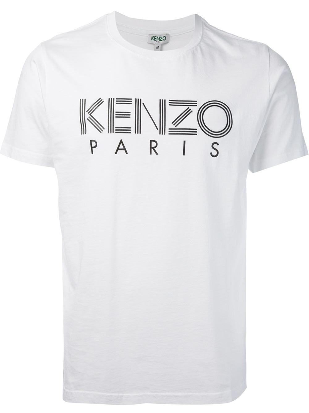8dd2dcfb2 KENZO ' Paris' T-Shirt in White for Men - Lyst